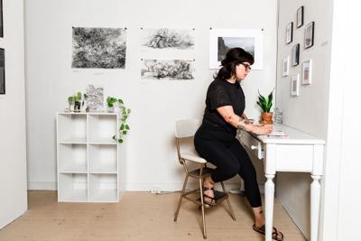Tristin Miller in studio
