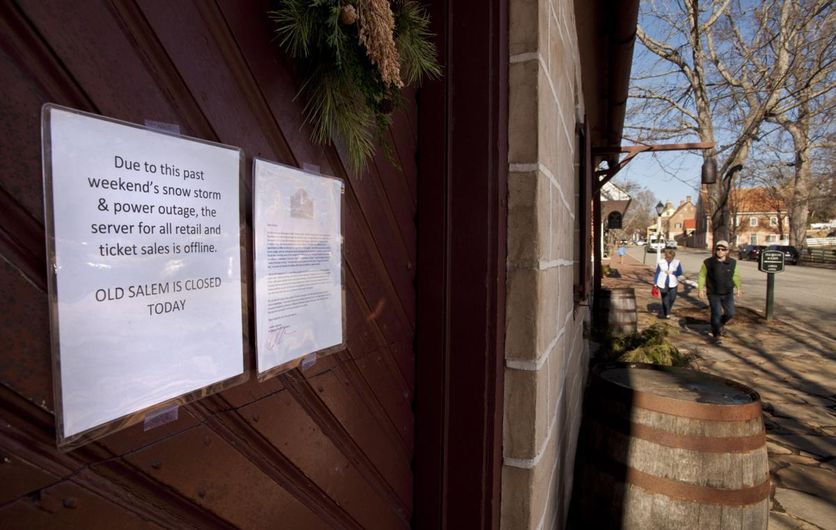 Old Salem closed, still feeling effects of snowstorm and power ...
