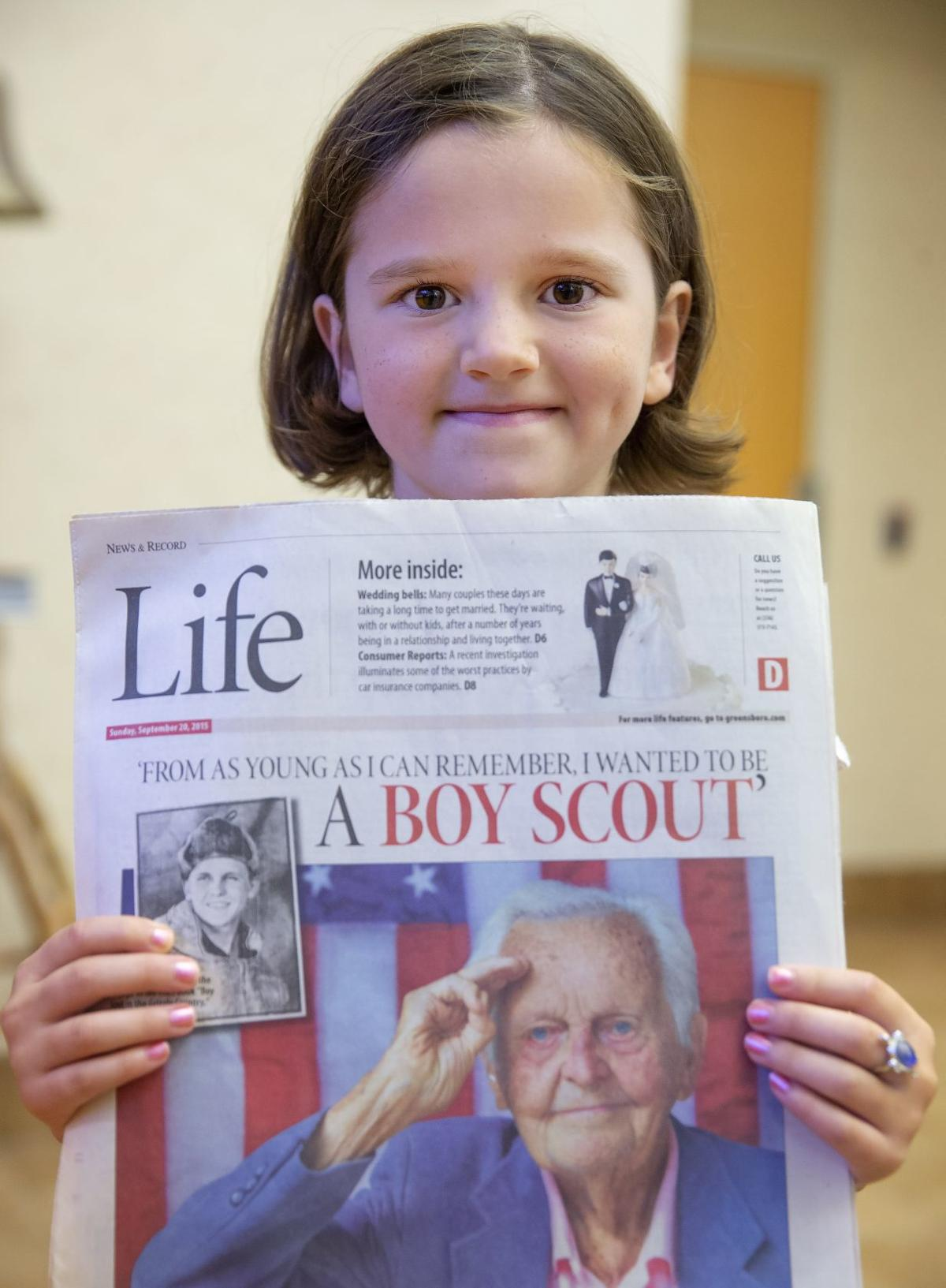 First girl to join local Cub Scouts is great-granddaughter