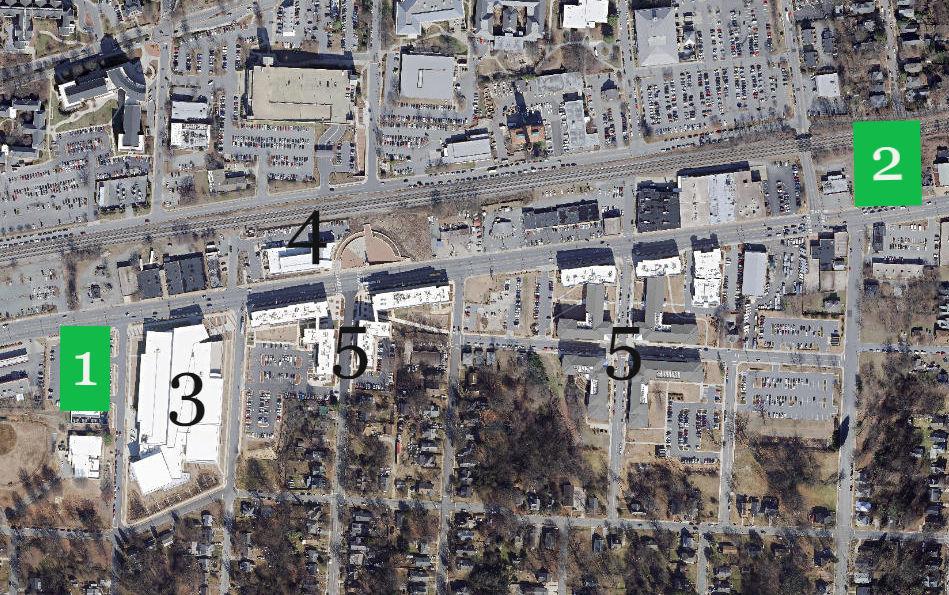 UNCG millennial campus map