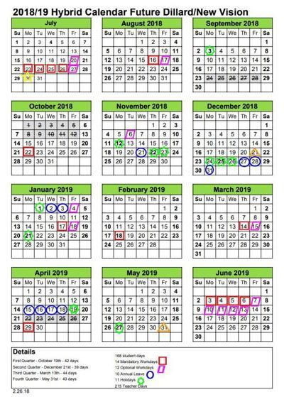 Rockingham County Schools 2018-2019 Hybrid Calendar