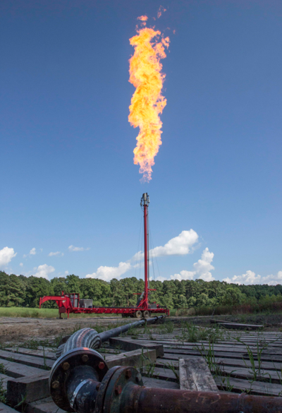 Gas 'flare' during routine maintenance
