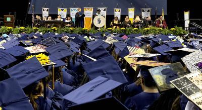 college generic graduation commencement mortarboards