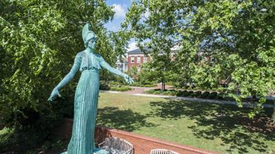 UNCG Minerva statue
