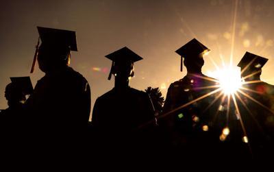 College generic graduation commencement several graduates