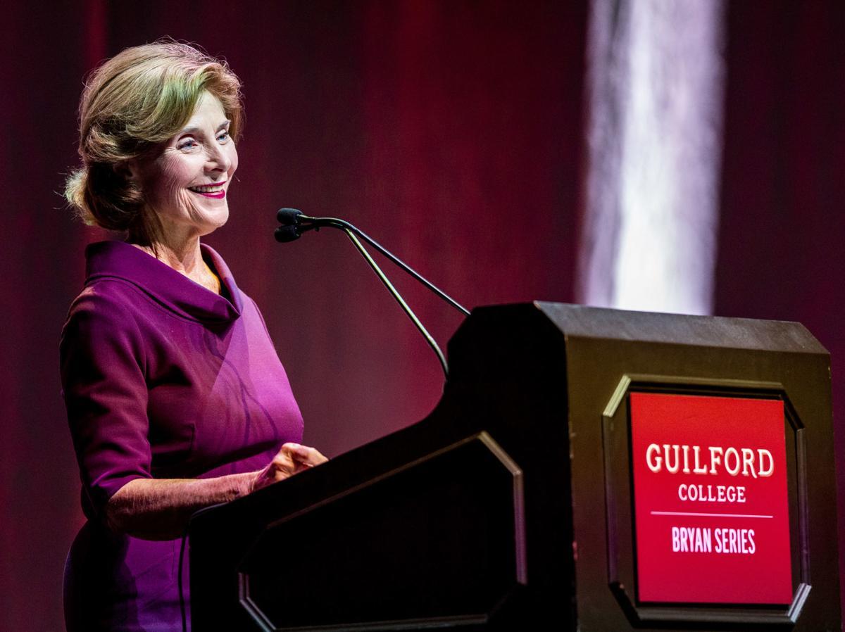 Laura Bush speaks at Guilford College Bryan Series (copy)