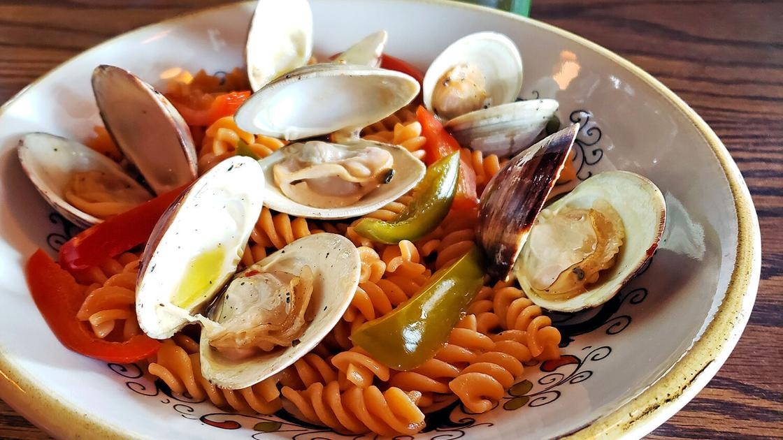 Sriracha Fusilli with Clams & Cherry Peppers