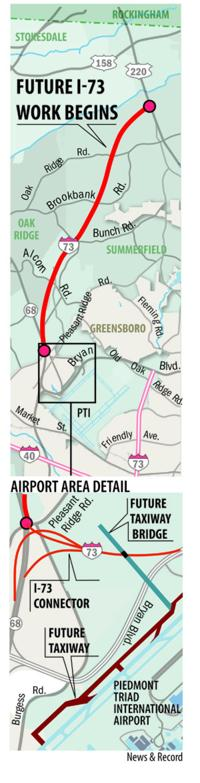 Blog: PTI Airport's bridge project on schedule | Business ... on cooper's point south carolina map, i-40 map, rt 74 north carolina map, conway bypass map, hwy 74 nc map,