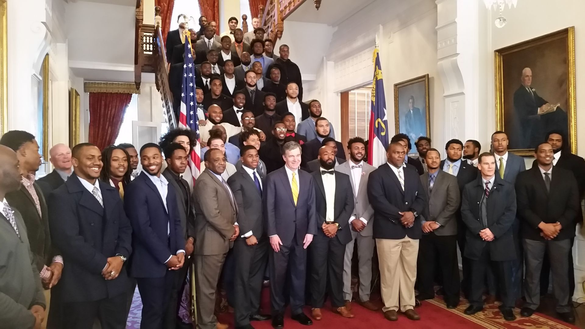 aggies cooper 011918  sc 1 st  Greensboro & Aggiesu0027 victory tour continues with Governoru0027s Mansion visit (Video ...