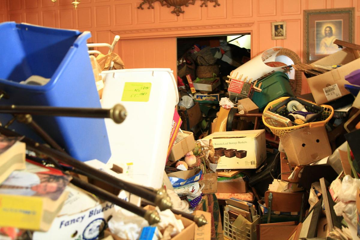 """Hoarders"" TV show at Julian Price home"