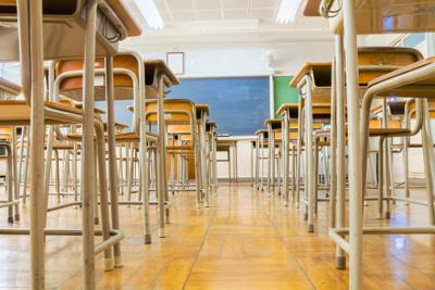 Empty desks in classroom (copy)