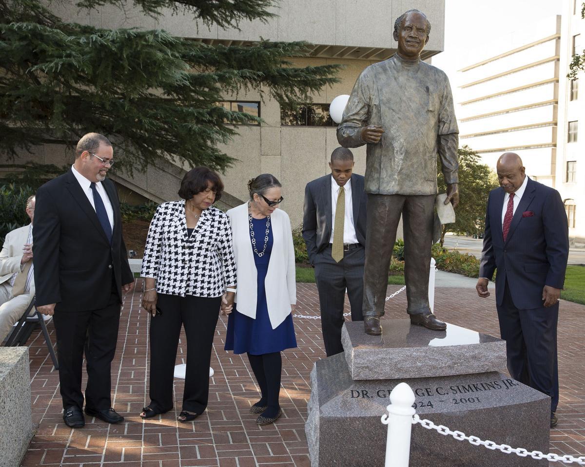 Statue of Dr. George Simkins, Jr. Unveiled