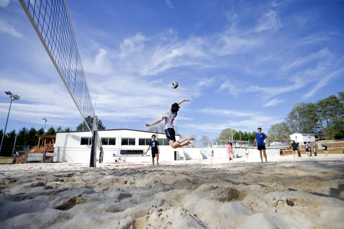 sand volleyball a new high sport starts to dig in