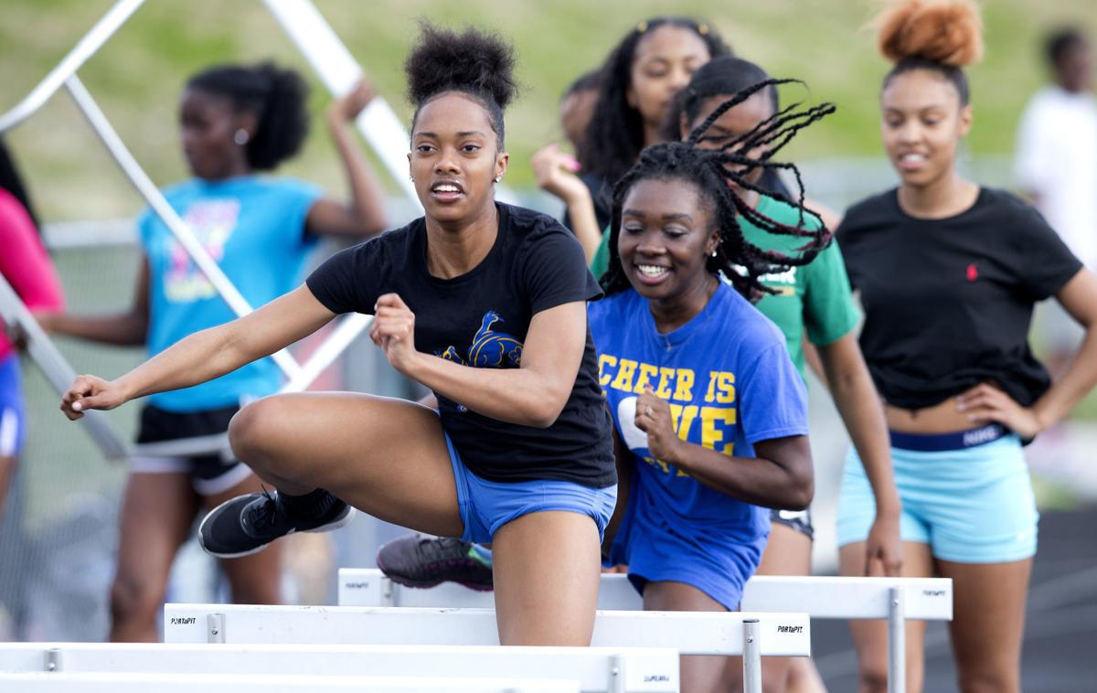 Dudley track and field athlete Eryka Baker