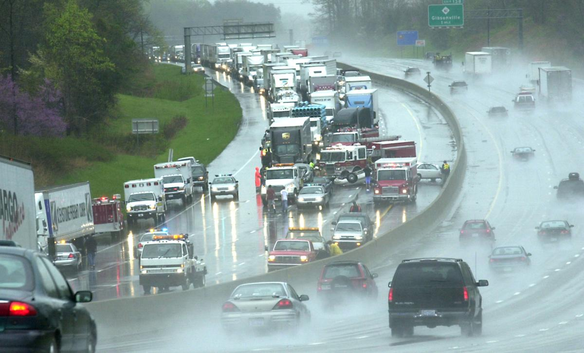 Wet road, close following lead to 12-vehicle pileup | News