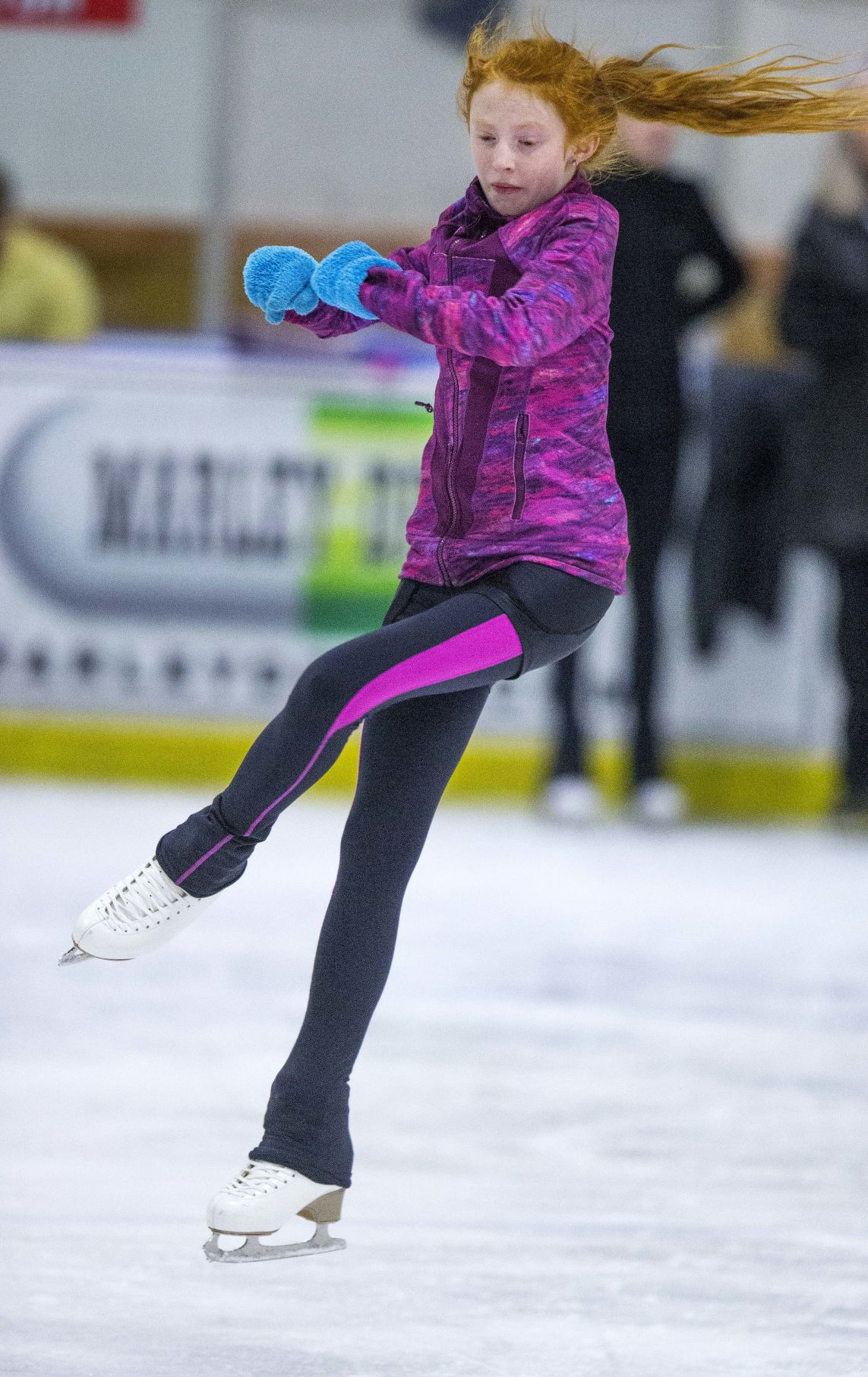 Local youth figure skaters practice at Ice House