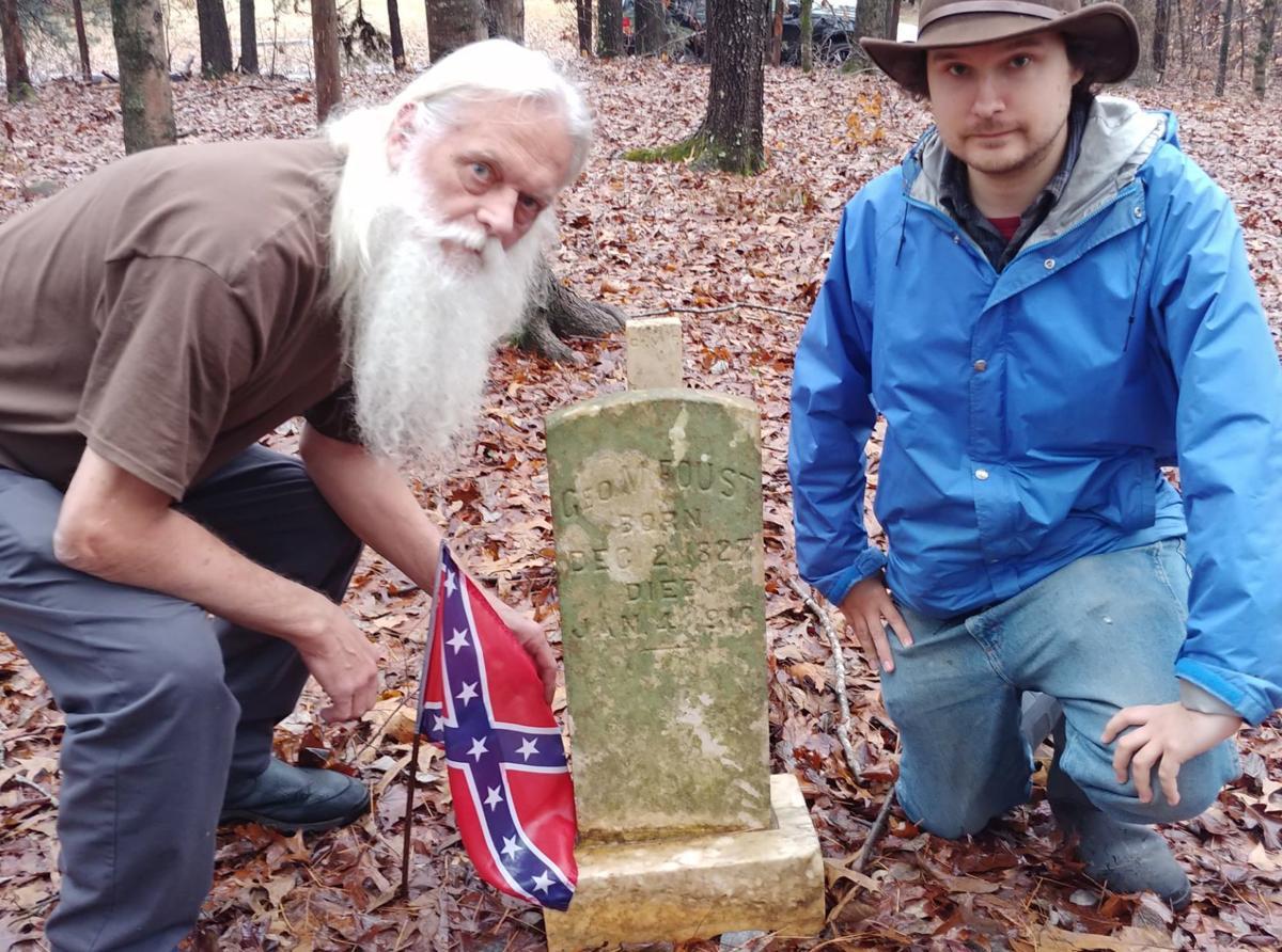Nils and Dwain at Confederate grave.jpg