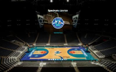 0585620158b6 LOOK  Hornets to use classic court design for retro nights