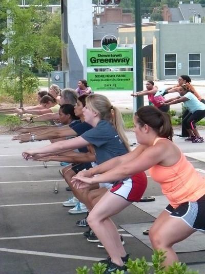 Fitness on the Downtown Greenway (copy)