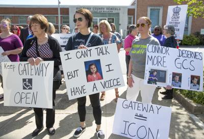 Gateway supporters standup to Guilford school board (copy)