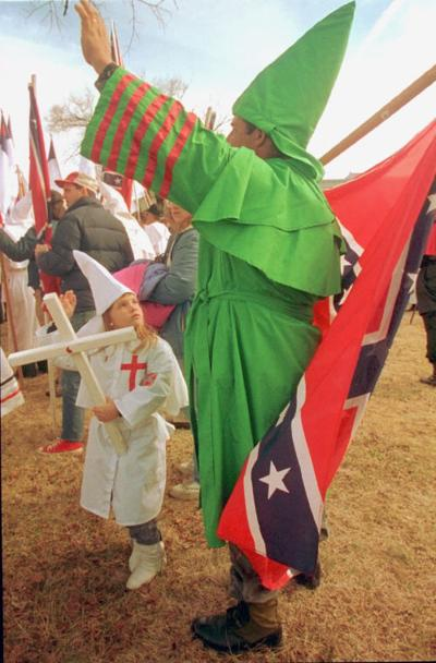 KKK RALLY FATHER DAUGHTER