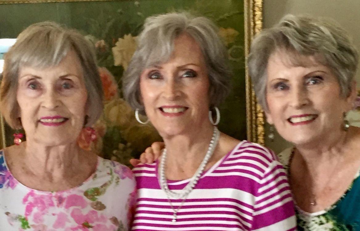 The Arrington triplets (from left) Lynda Eckler, Nancy Farlow and Jeanie Wyrick.