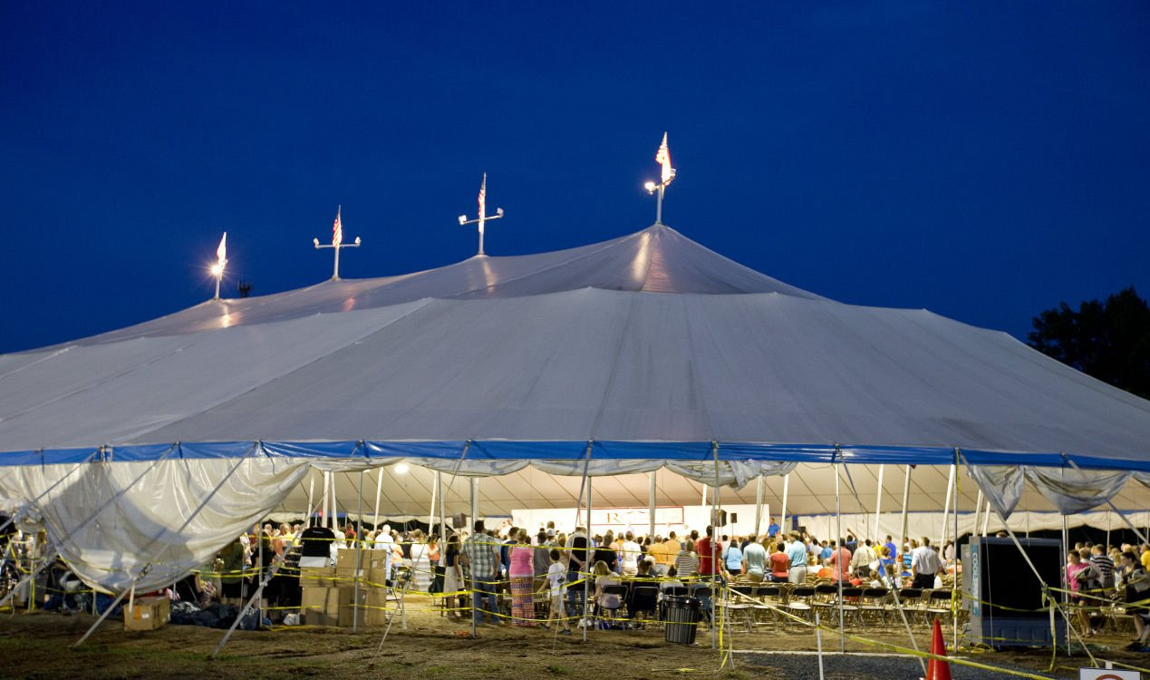 Tent takes Burlington Revival to another level (Video/pnotos) | Faith u0026 Values | greensboro.com & Tent takes Burlington Revival to another level (Video/pnotos ...