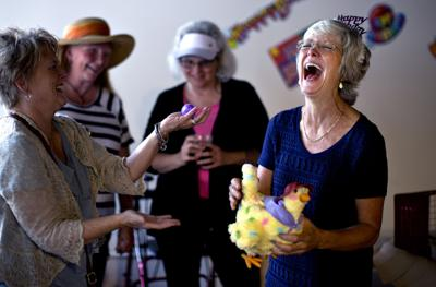 """Birthday party thrown for """"Chicken Lady"""" Amy Murphy"""