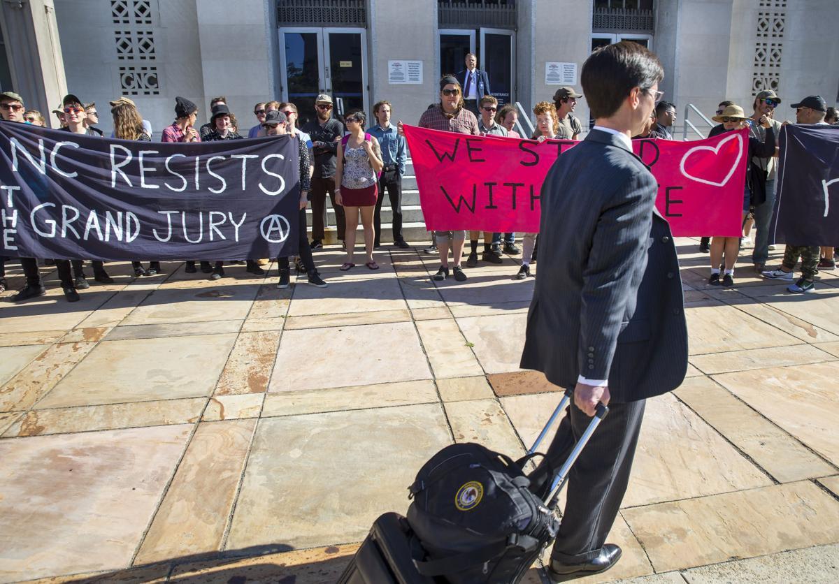 Grand jury subpoena protest