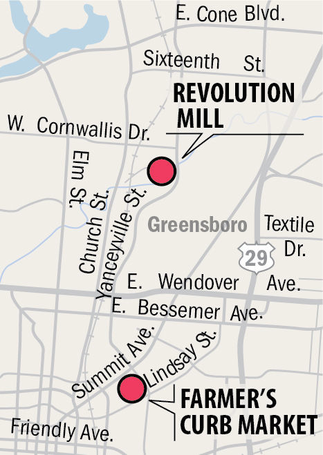 Greensboro Farmers Curb Market moves 2 miles away — but just for ...