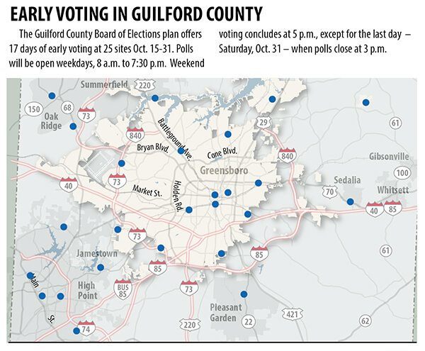 Early voting map