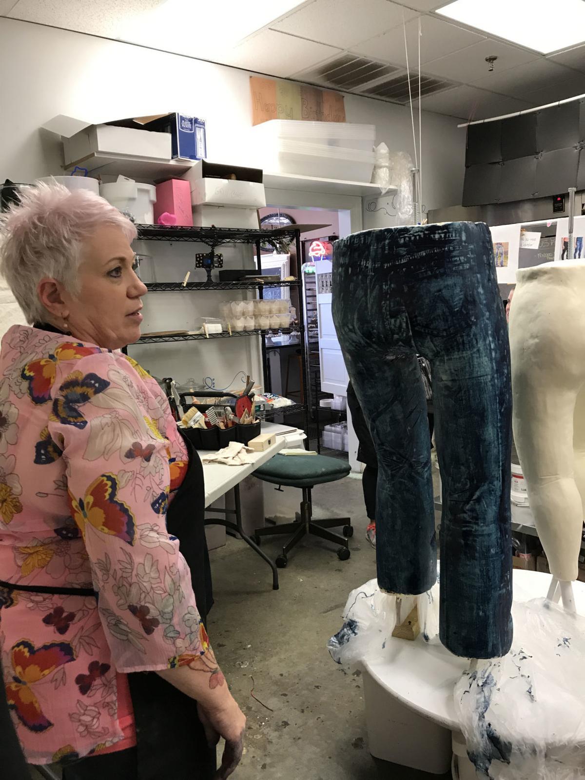 Edible Blue Jean Sculpture