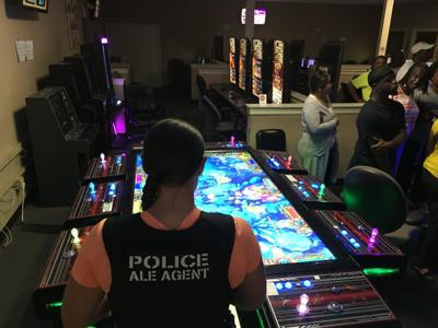 Illegal casino raid