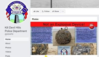 This is not a bomb, Kill Devil Hills police say