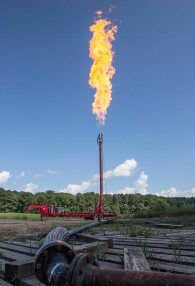 A flare stack