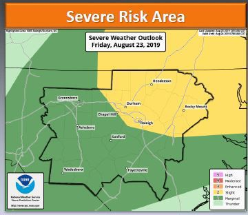 Strong to severe thunderstorms expected Friday afternoon and evening