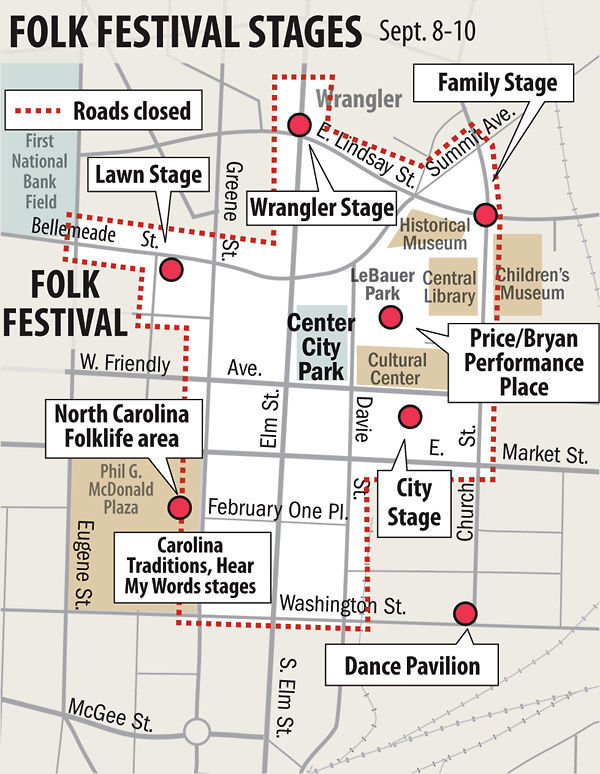 What to eat at the National Folk Festival -- find out here ... Map Of Greensboro Nc Folk Festival on theater greensboro nc, dinner party greensboro nc, fair greensboro nc, homeless shelter greensboro nc,