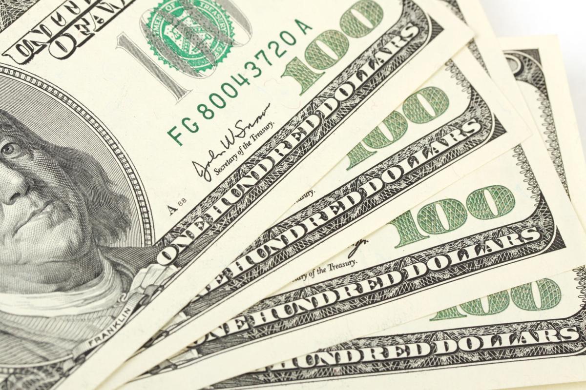 Pile of money American hundred dollar bills (copy)
