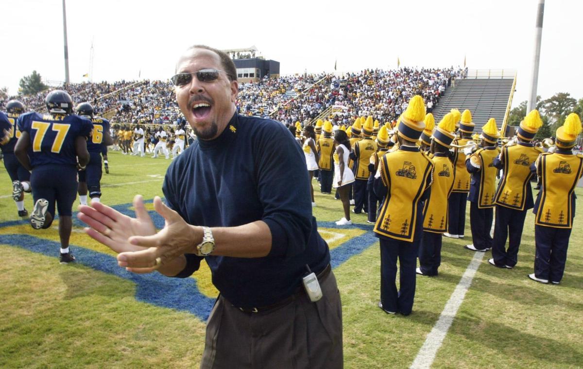 NCAT James Renick cheering 2004