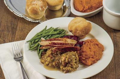 Thanksgiving dinner plate (stock)
