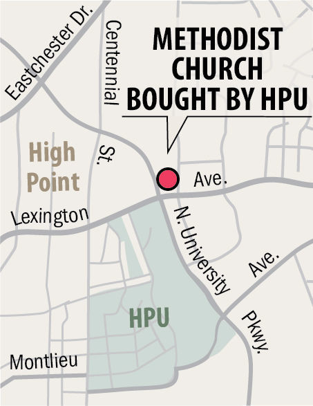 High Point University buys Methodist church