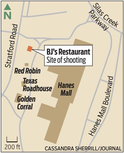 Site of shooting at BJ's Restaurant