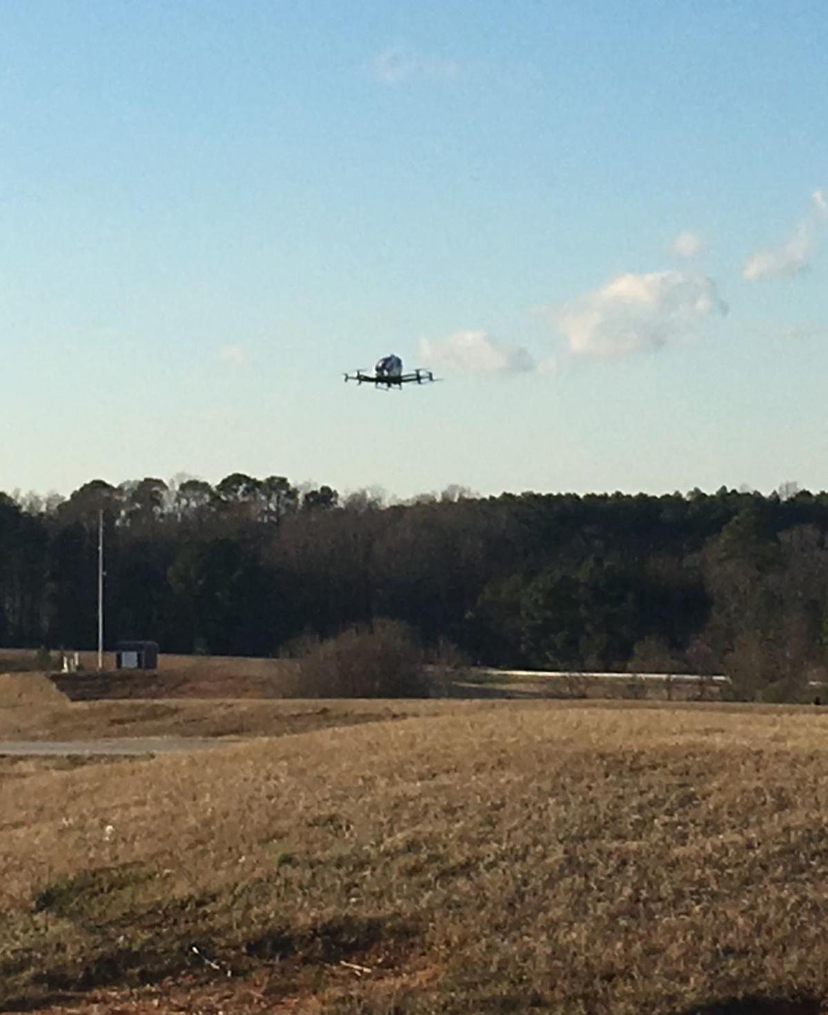 Pilotless air taxi makes public demonstration flight in Raleigh