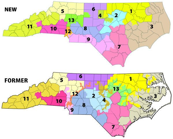 NCs New Congressional District Map Becomes Law Redistricting - Us nc congress district 9 current map