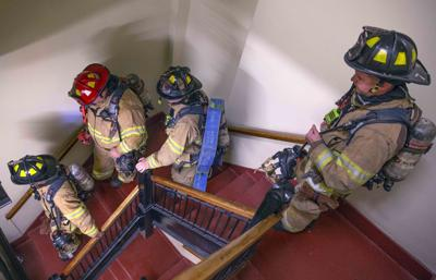 Greensboro fire training in high-rise building