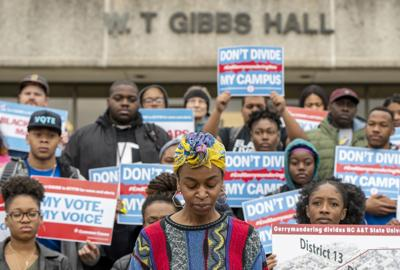 N.C. A&T students protest partisan redistricting (copy)