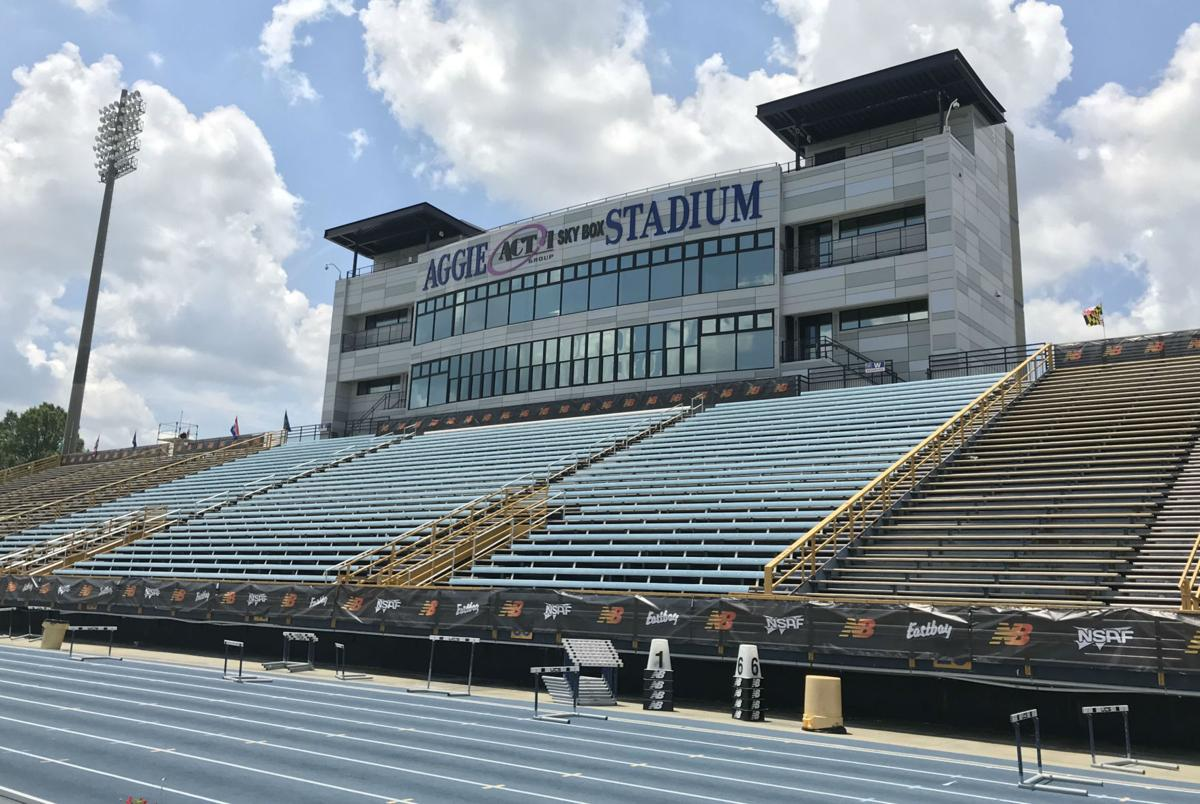 NCAT Aggie Stadium grandstand press box