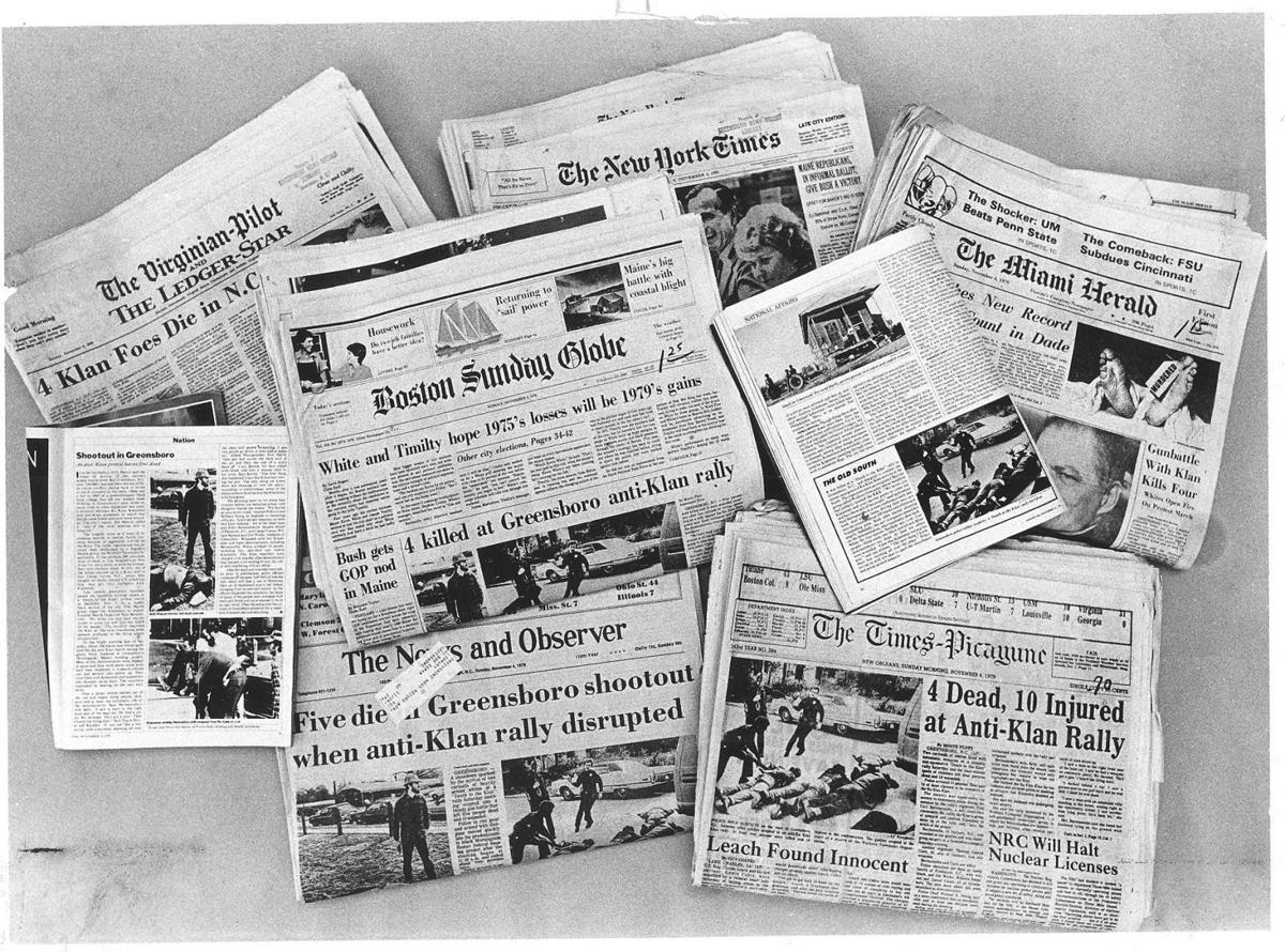 Klan-Nazi shooting headlines