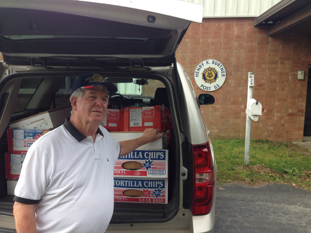 Henry K. Burtner American Legion Post 53 donates canned food items (copy)
