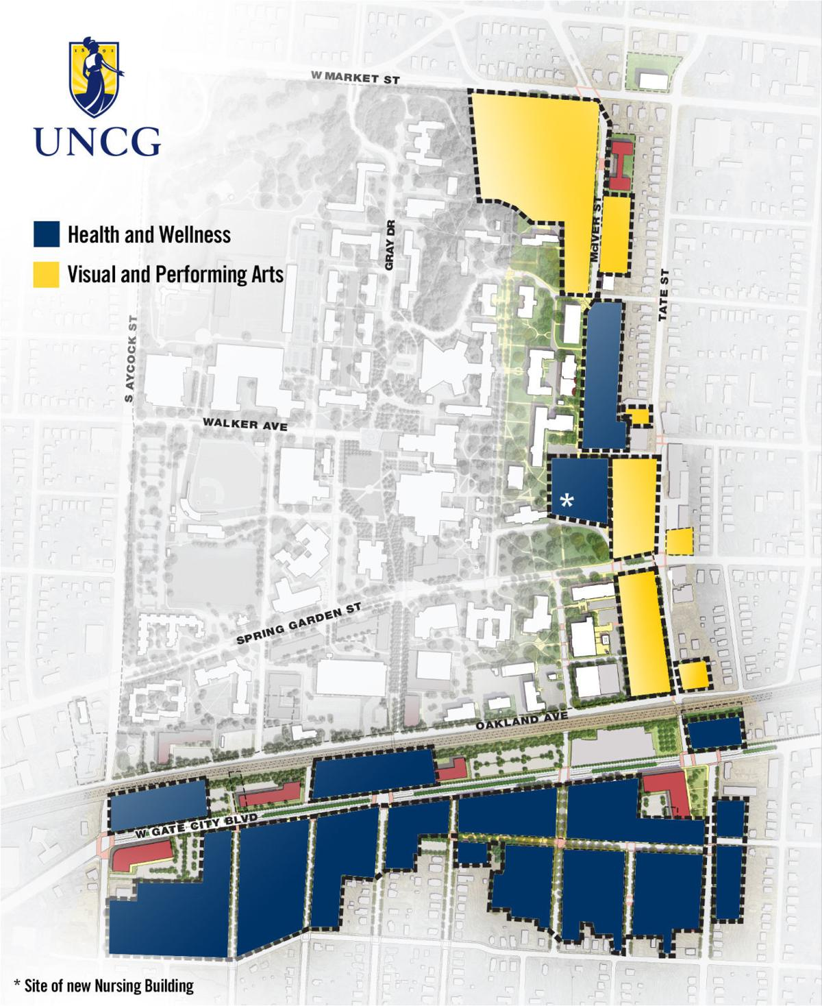 Unc Greensboro Campus Map.Uncg S Millennial Campus Plan Takes Big Step Forward Schools